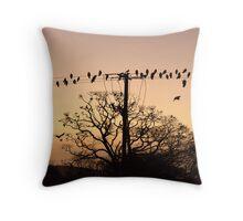 Batty Birdy Throw Pillow