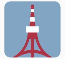 Tokyo Tower Twitter Emoji Kids Clothes