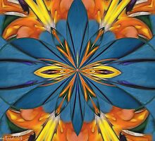 Bird Of Paradise Kaleidoscope by Kay  G Larsen