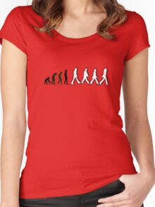 Musical Revolution Evolution - Beatles Abbey Road Women's Fitted Scoop T-Shirt
