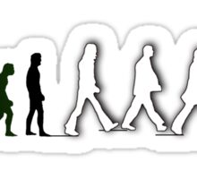 Musical Revolution Evolution - Beatles Abbey Road Sticker
