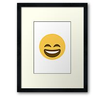 Smiling Face With Open Mouth And Smiling Eyes Twitter Emoji Framed Print