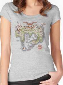 Kanto Map Women's Fitted Scoop T-Shirt