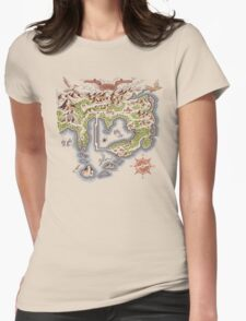 Kanto Map Womens Fitted T-Shirt