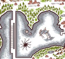 Kanto Map Sticker