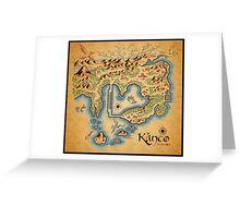 Kanto Map Greeting Card