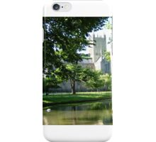 Wells Cathedral over water iPhone Case/Skin
