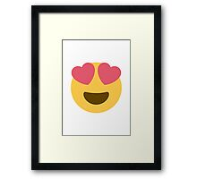 Smiling Face With Heart-Shaped Eyes Twitter Emoji Framed Print
