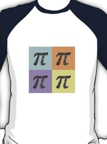 Pi Day Graphic Pastel Squares T-Shirt