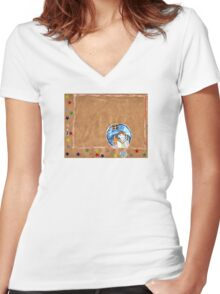 The Old Journey Women's Fitted V-Neck T-Shirt