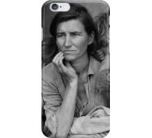 Migrant Mother, taken by Dorothea Lange in 1936 iPhone Case/Skin