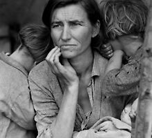 Migrant Mother, taken by Dorothea Lange in 1936 by Adam Asar