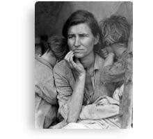Migrant Mother, taken by Dorothea Lange in 1936 Metal Print