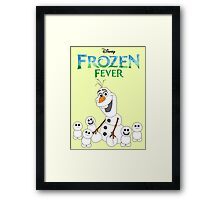 Olaf and his little buddies Framed Print