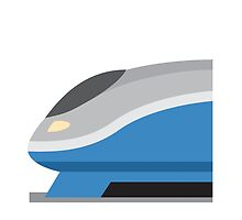High-Speed Train Twitter Emoji by emoji