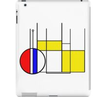 Modern Lines and Colors - Red Blue Yellow Black White Geometric iPad Case/Skin
