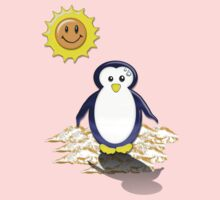 Sunny Pinguin Shadow Tee by BluAlien