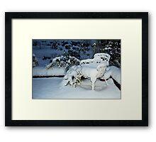 Snow chair ~ Thursday nite Framed Print