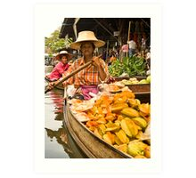 Fruit Boat at Floating Market Art Print