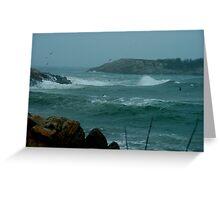Atlantic Storm Greeting Card