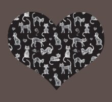 Teacher's Pet - chalkboard cat pattern Kids Clothes