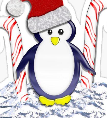 Christmas Candycane Pinguin Tee 2 Sticker