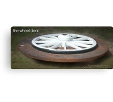 The Wheel Deal © Vicki Ferrari Photography Canvas Print