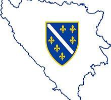 Flag Map of Bosnia & Herzegovina, 1992-1998 by abbeyz71