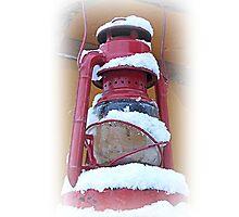 Lantern With Snow On It by Jonice