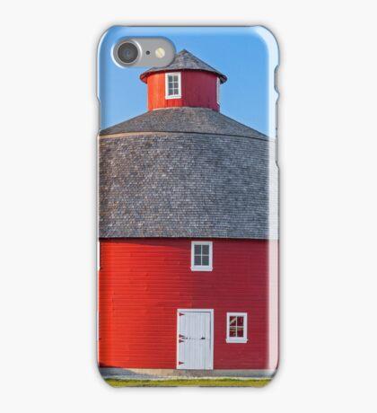 Red Round Barn iPhone Case/Skin