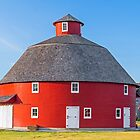 Red Round Barn by Kenneth Keifer