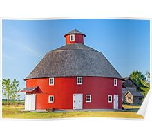Red Round Barn Poster