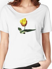 Yellow and Red Tulip Women's Relaxed Fit T-Shirt