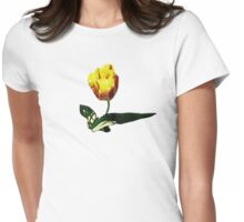 Yellow and Red Tulip Womens Fitted T-Shirt