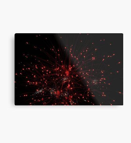 Red Firework Metal Print