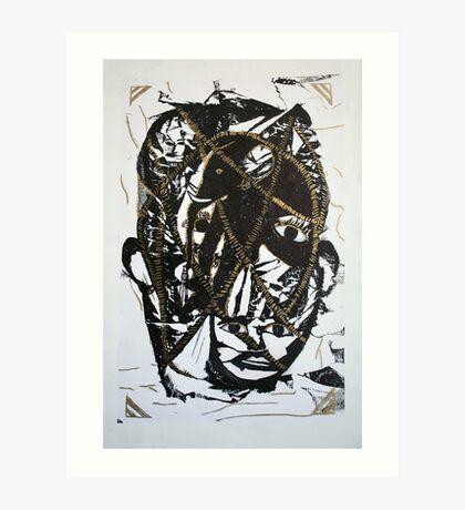 troubled mind Art Print