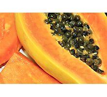 Strawberry Papaya Photographic Print