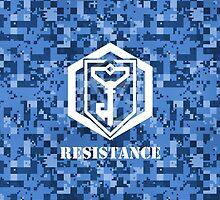 RESISTANCE Digital Camouflage - Ingress by trebory6