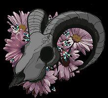 Ram Skull by PrettyMorbid