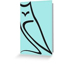 Vector Style Owl Greeting Card