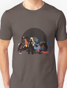 Cynthia With Pokemon - Sunset Shores T-Shirt