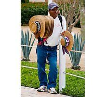 Hot Day Hat Salesman Photographic Print