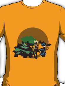 Barry With Pokemon - Sunset Shores T-Shirt