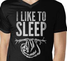 I Like To Sleep Mens V-Neck T-Shirt