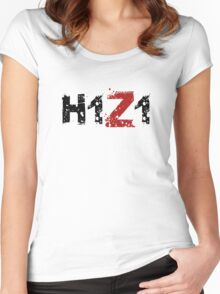 H1Z1: Title - Black Ink Women's Fitted Scoop T-Shirt