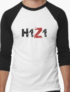 H1Z1: Title - Black Ink Men's Baseball ¾ T-Shirt