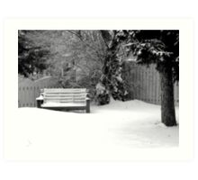 City Winter Scene Art Print