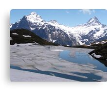 Bachalpensee with Fieschornen in the background, May 2004 Canvas Print