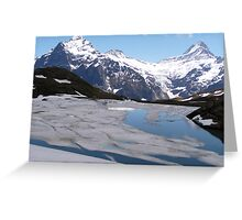 Bachalpensee with Fieschornen in the background, May 2004 Greeting Card