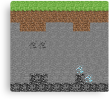 Minecraft Levels Canvas Print